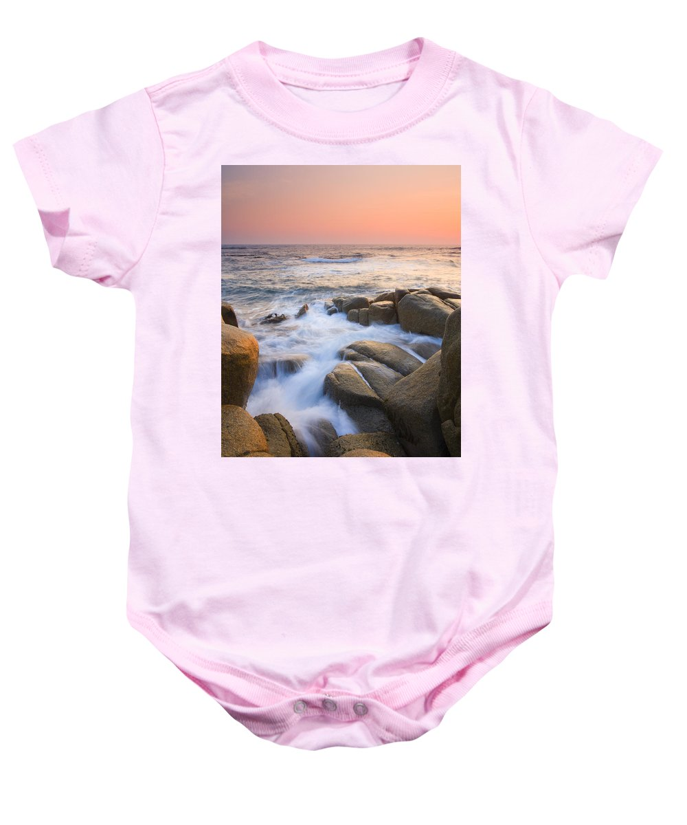 Sunrise Baby Onesie featuring the photograph Red Sky At Morning by Mike Dawson