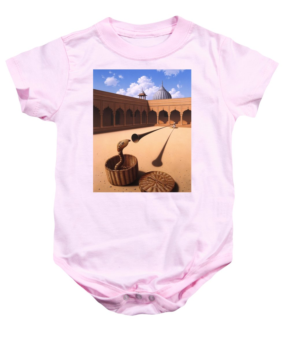 Snake Baby Onesie featuring the painting Risk Management by Jerry LoFaro