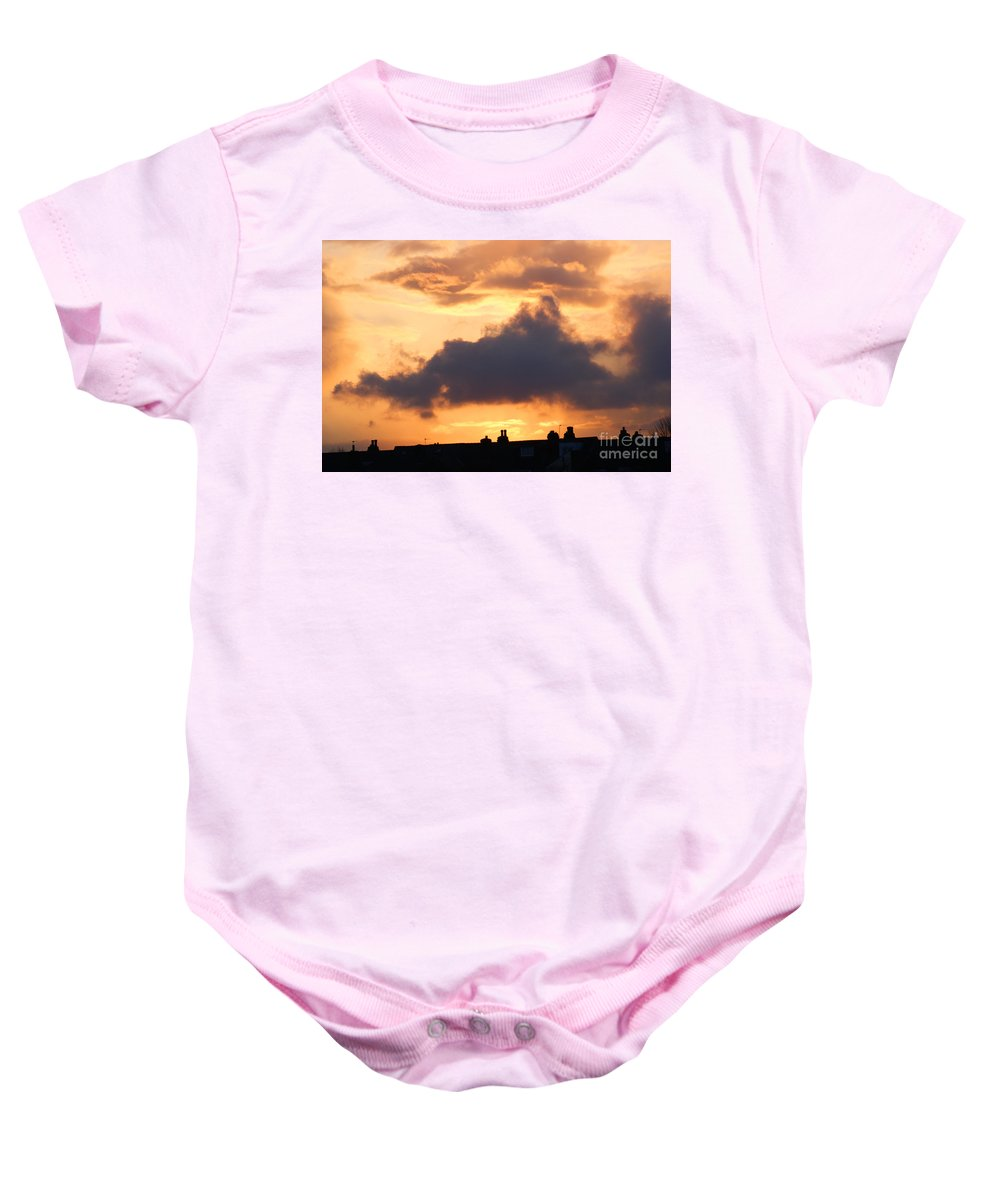 Sunset Baby Onesie featuring the photograph Rooftop Sunset 2 by Carol Lynch