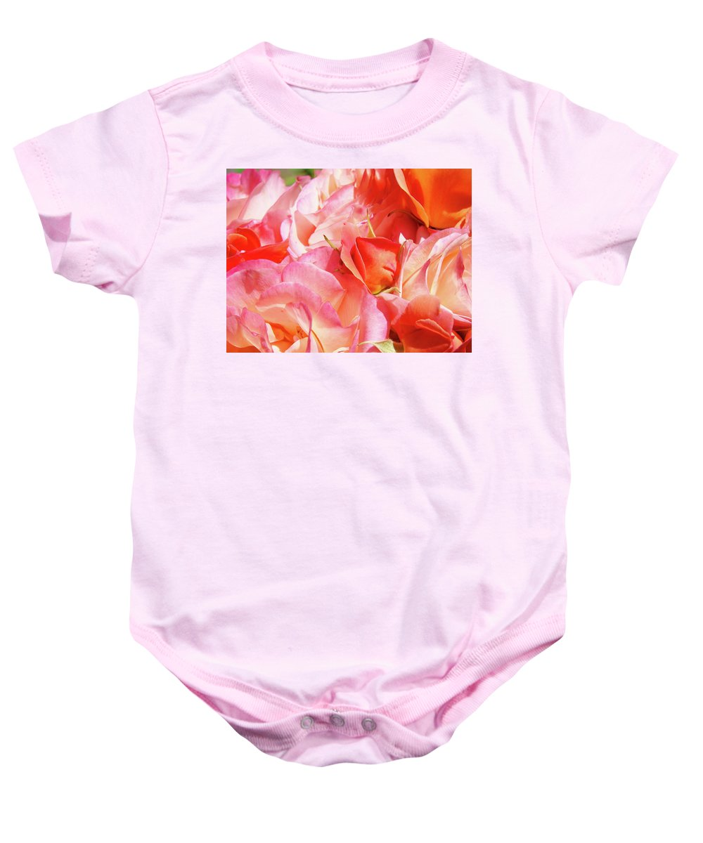 Rose Baby Onesie featuring the photograph Rose Bouquet Floral Art Prints Garden Roses Baslee Troutman by Baslee Troutman