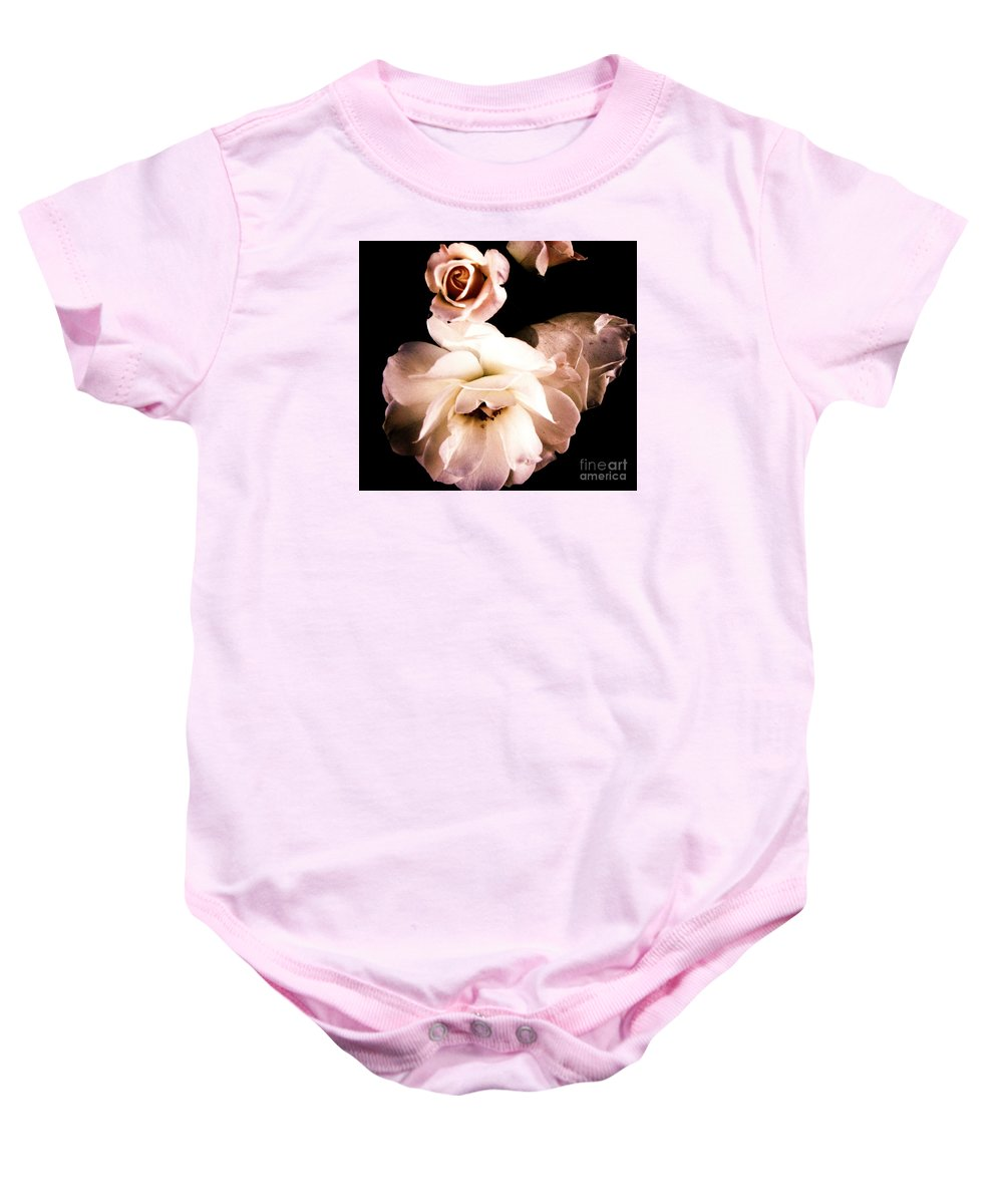 Rose Baby Onesie featuring the photograph Rose by Vanessa Palomino