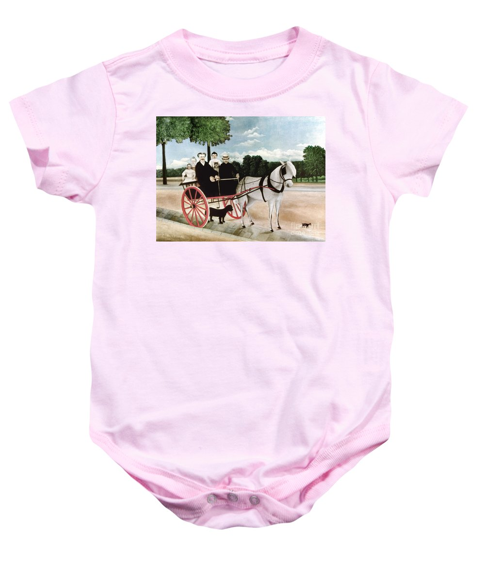 1908 Baby Onesie featuring the photograph Rousseau: Cart, 1908 by Granger