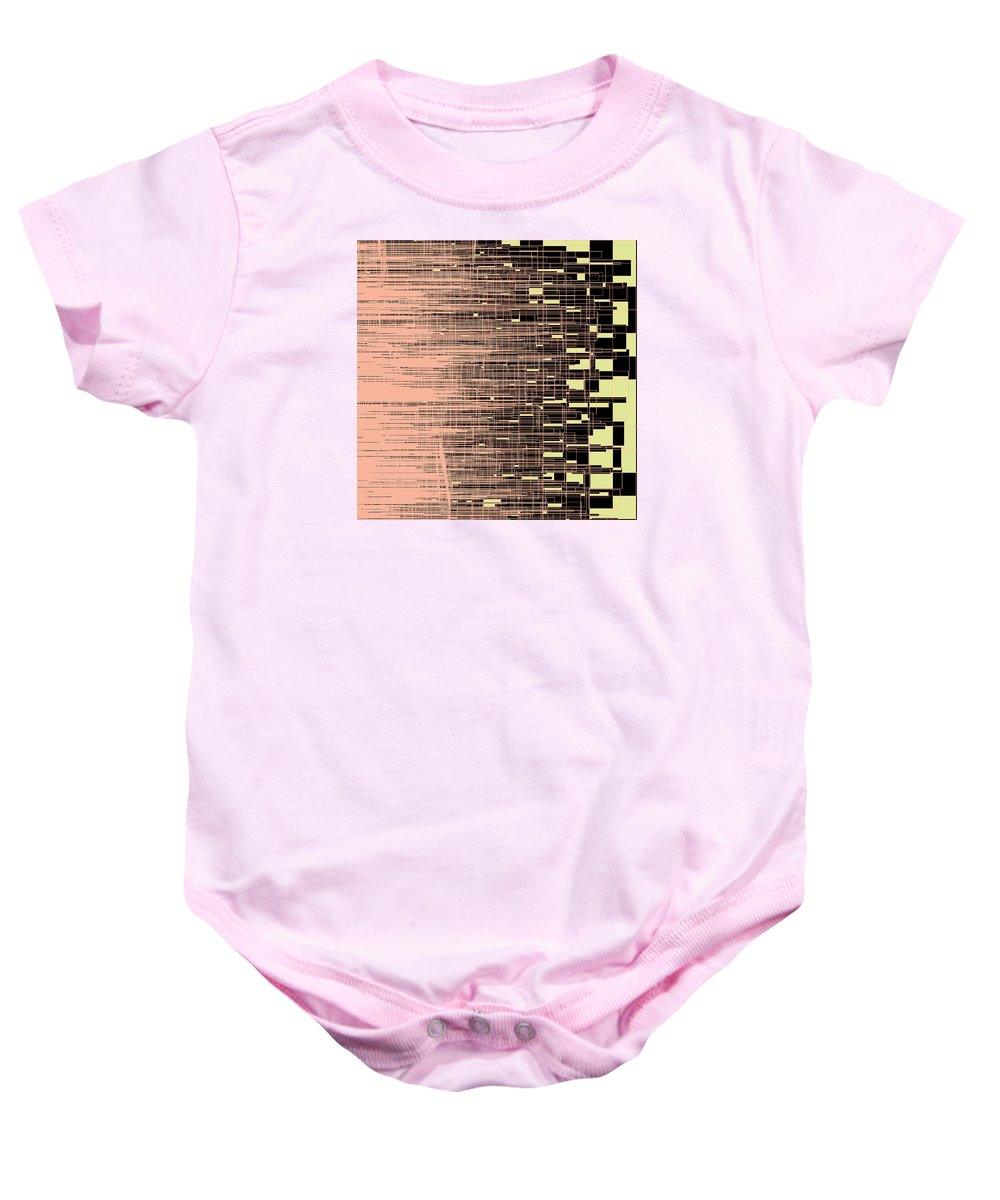 Abstract Baby Onesie featuring the digital art S.7.44 by Gareth Lewis