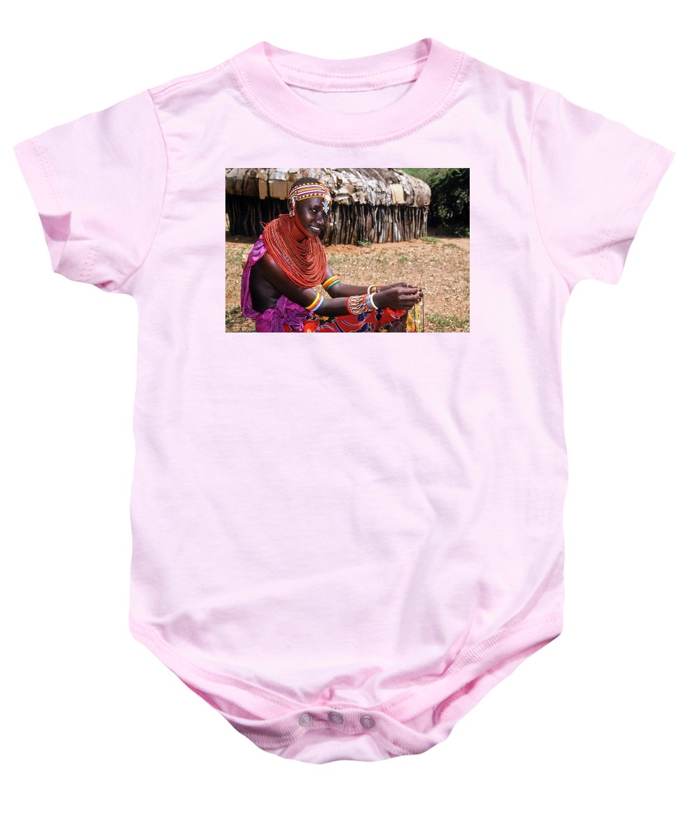 Africa Baby Onesie featuring the photograph Samburu Beauty by Michele Burgess