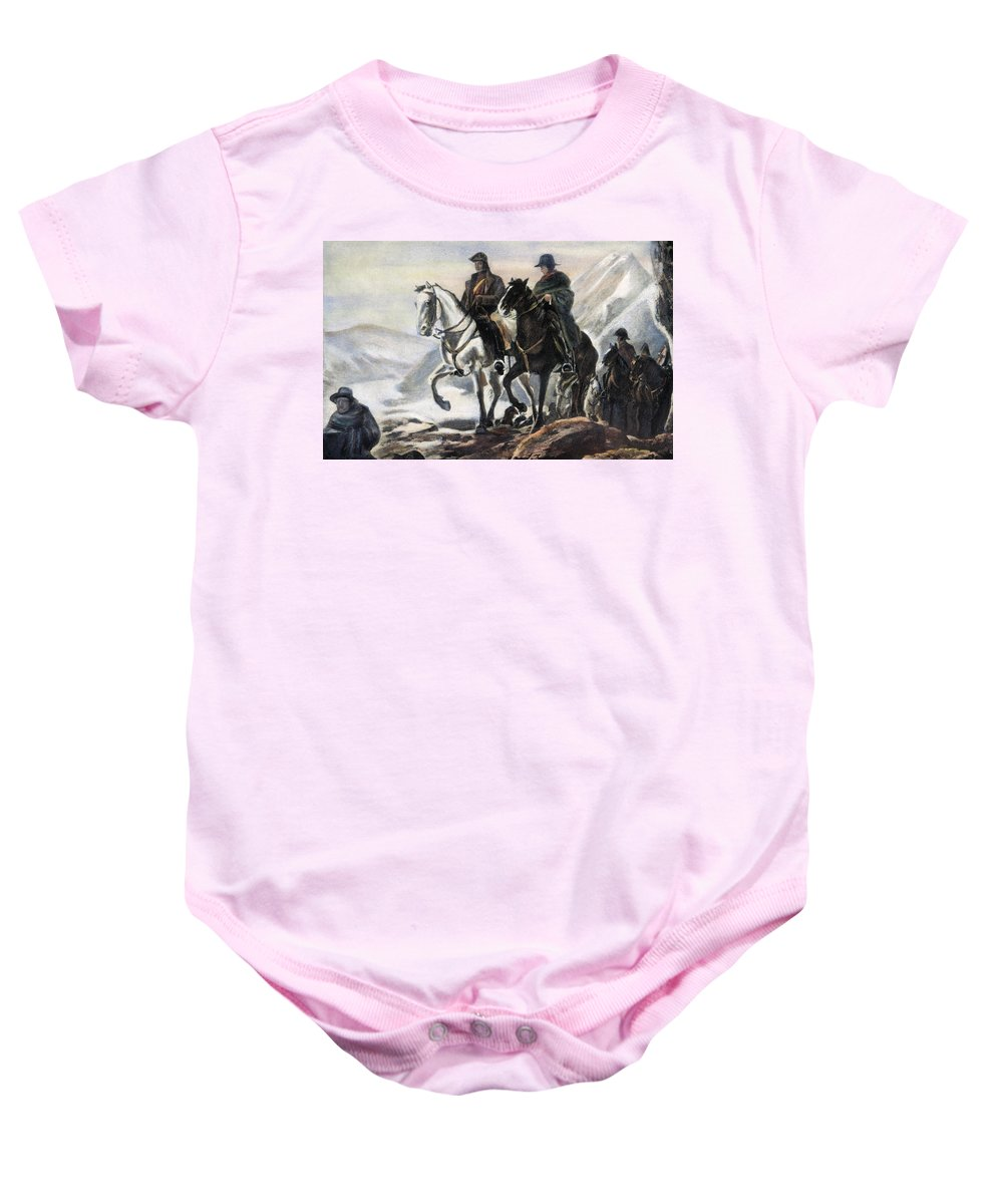 1817 Baby Onesie featuring the photograph San Martin And Ohiggins by Granger