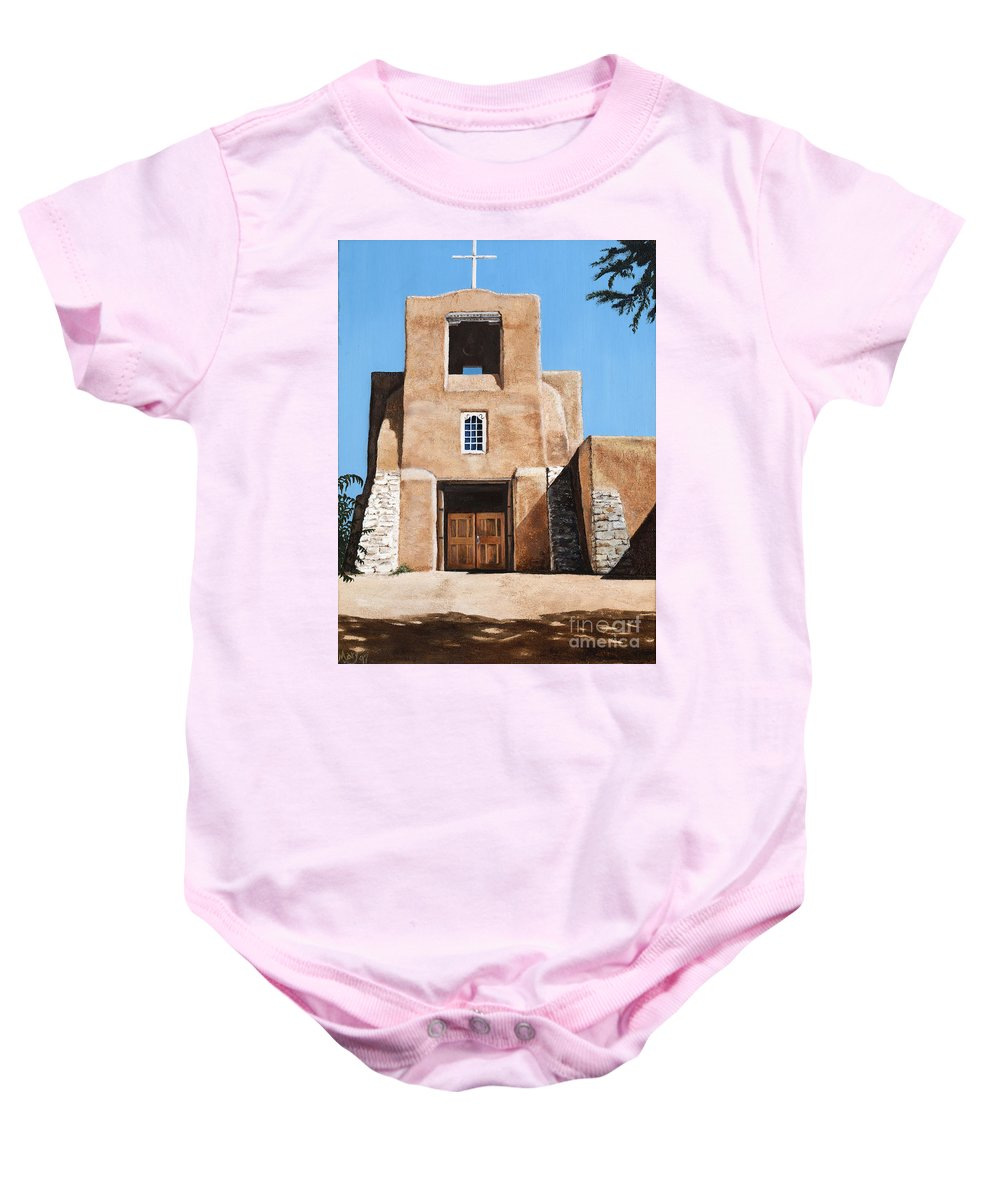 Art Baby Onesie featuring the painting San Miguel by Mary Rogers
