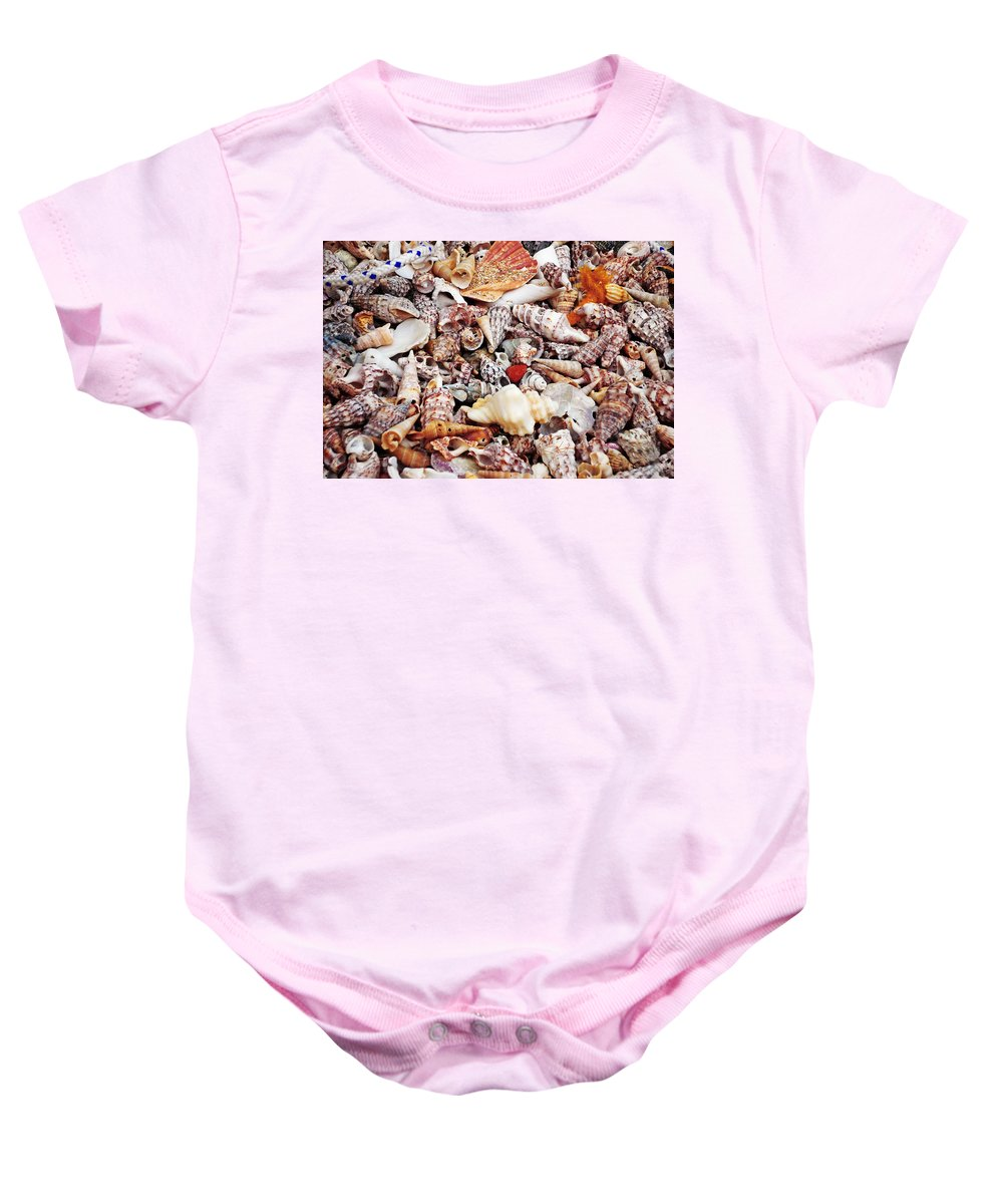 Shells Baby Onesie featuring the photograph Sand by Charles Stuart