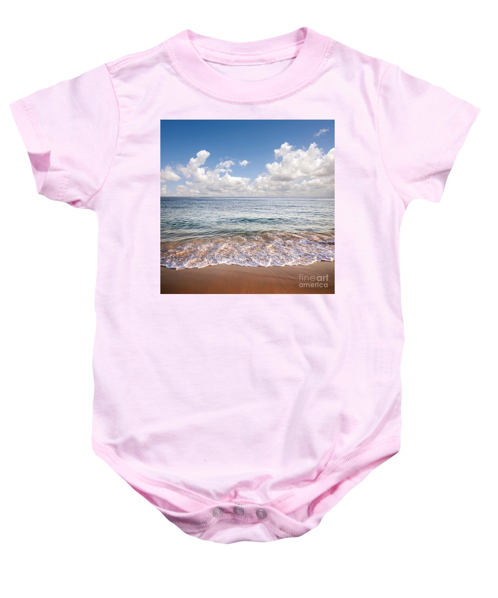Background Baby Onesie featuring the photograph Seascape by Carlos Caetano