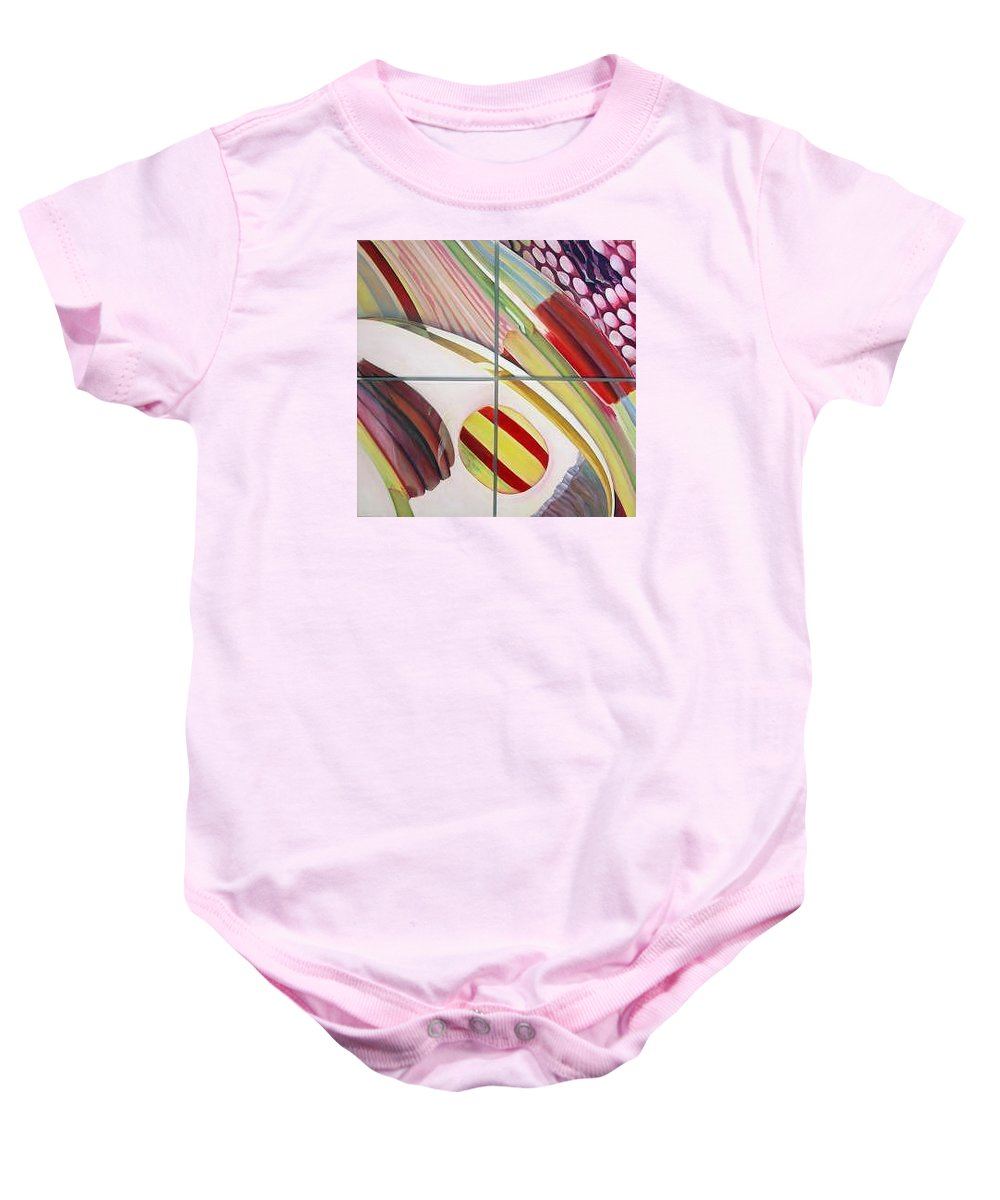 Abstract Baby Onesie featuring the painting Sens by Muriel Dolemieux