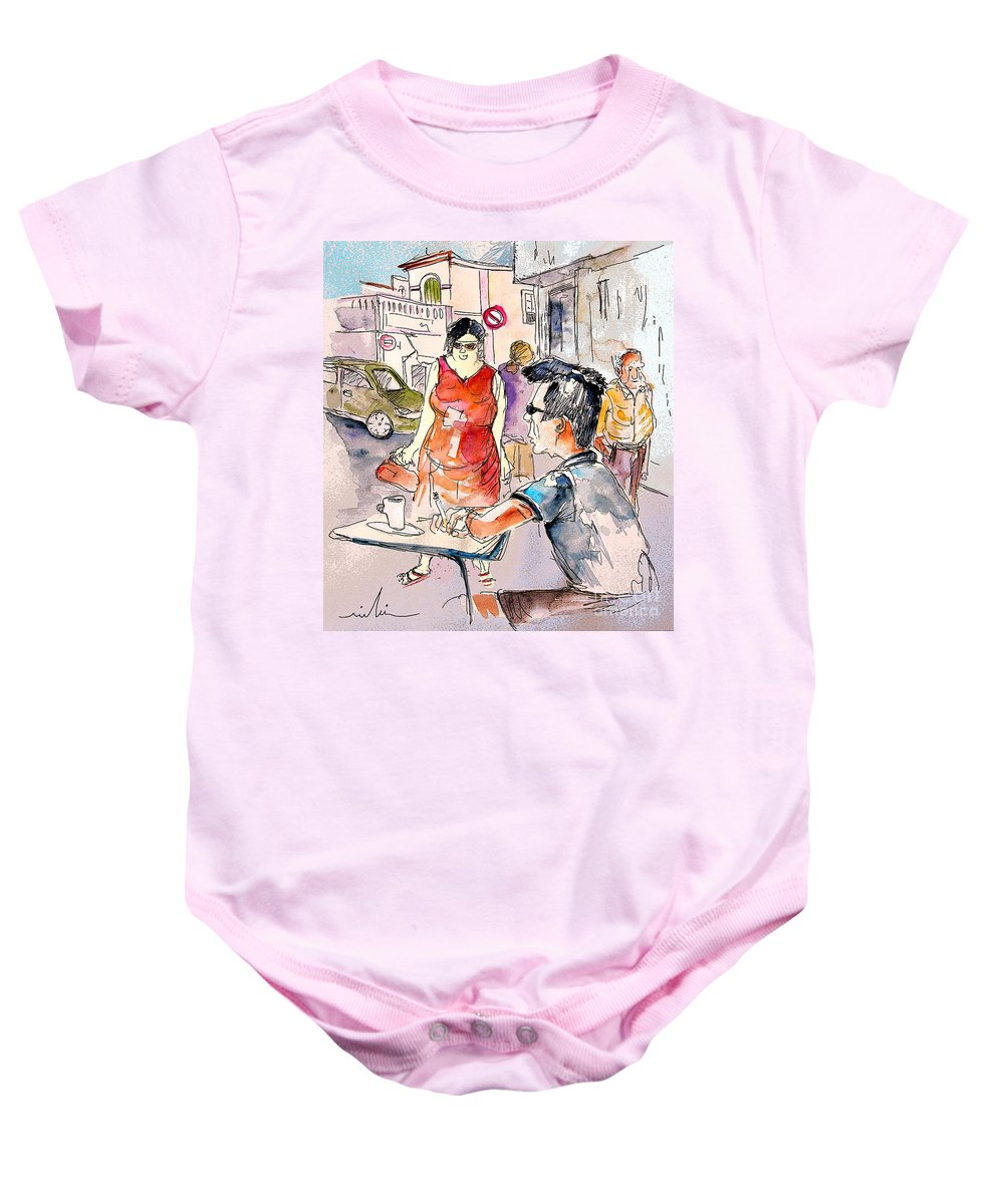 Portugal Paintings Baby Onesie featuring the painting Serpa Portugal 16 by Miki De Goodaboom