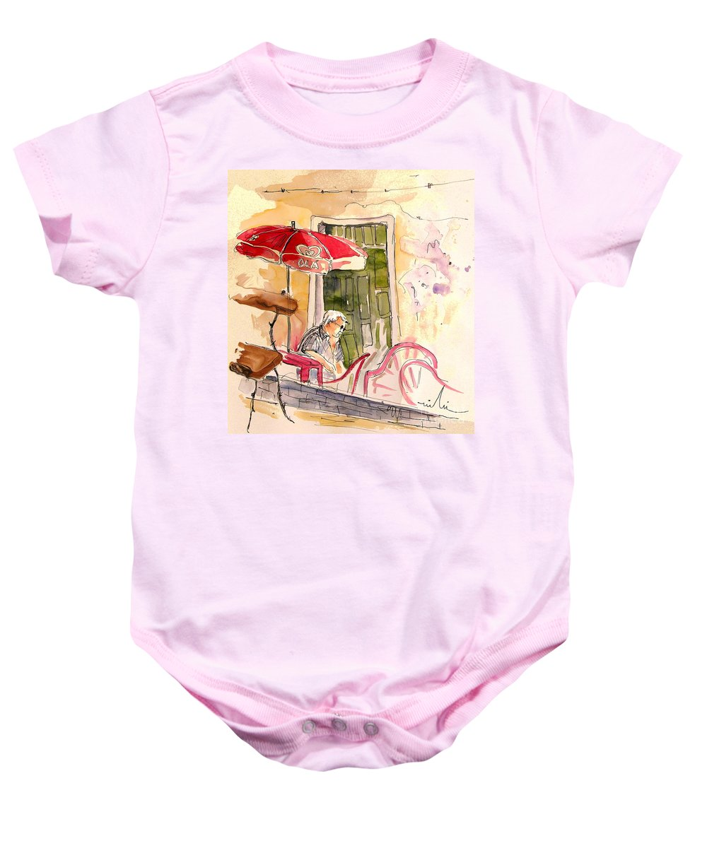 Portugal Paintings Baby Onesie featuring the painting Serpa Portugal 23 by Miki De Goodaboom