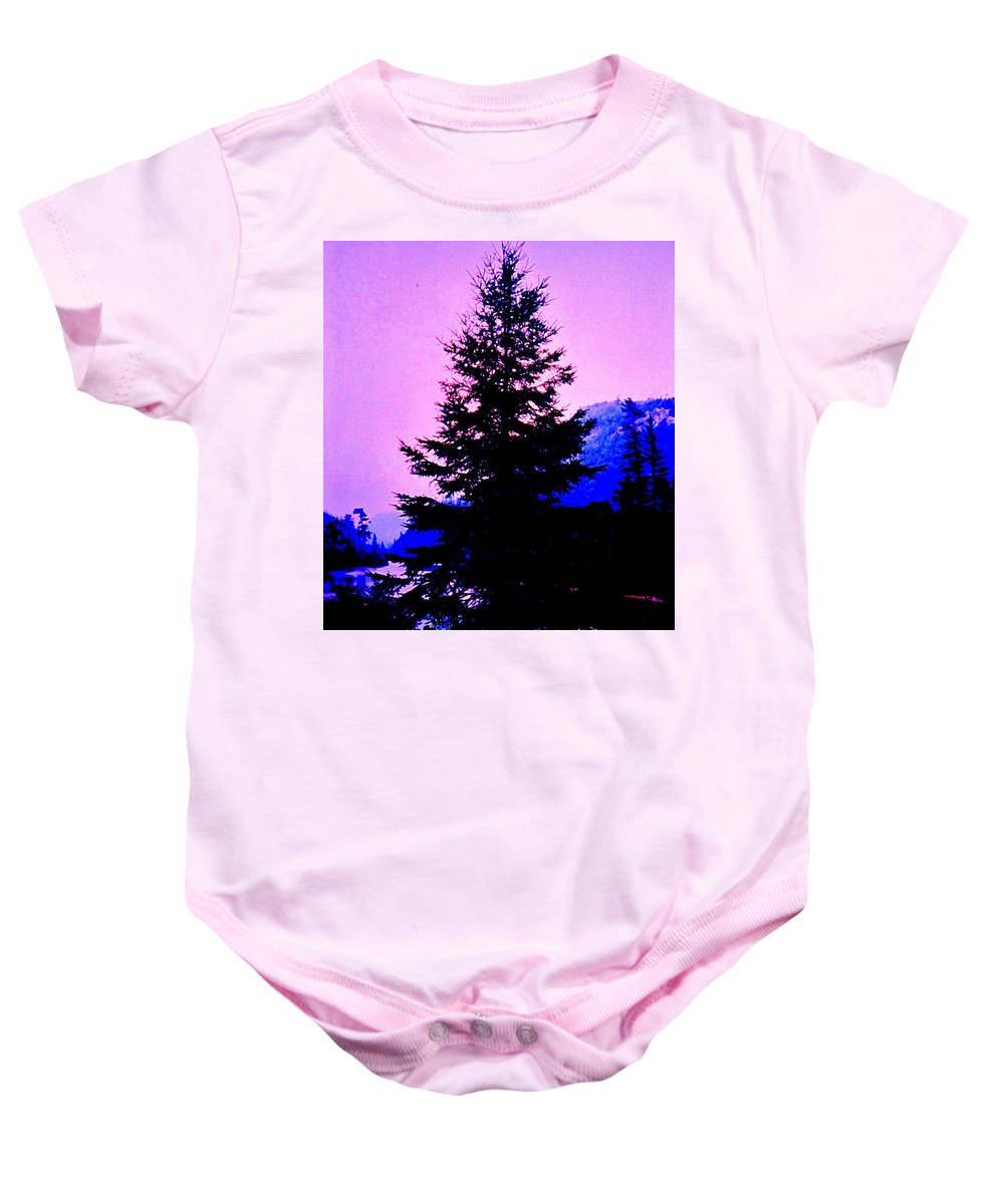 Agawa Baby Onesie featuring the photograph Shadows In The Canyon by Ian MacDonald