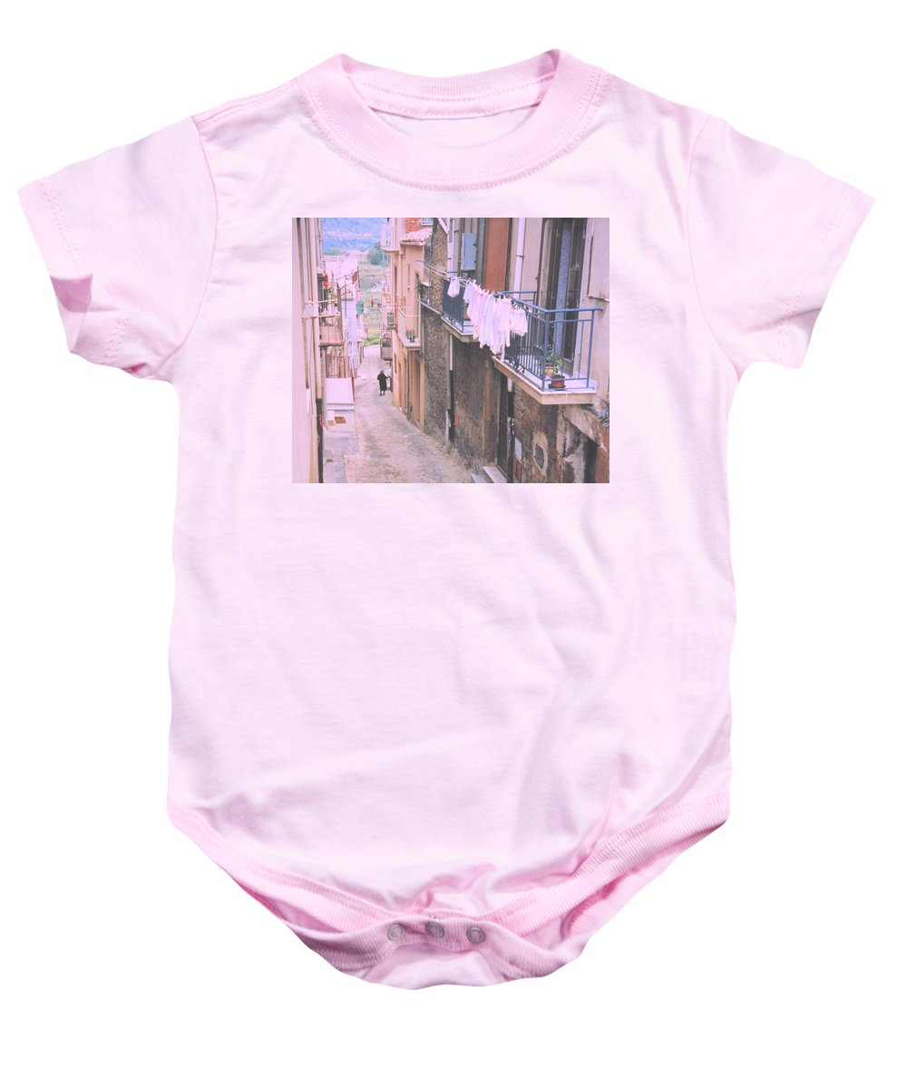 Sicily Baby Onesie featuring the photograph Sicily by Ian MacDonald
