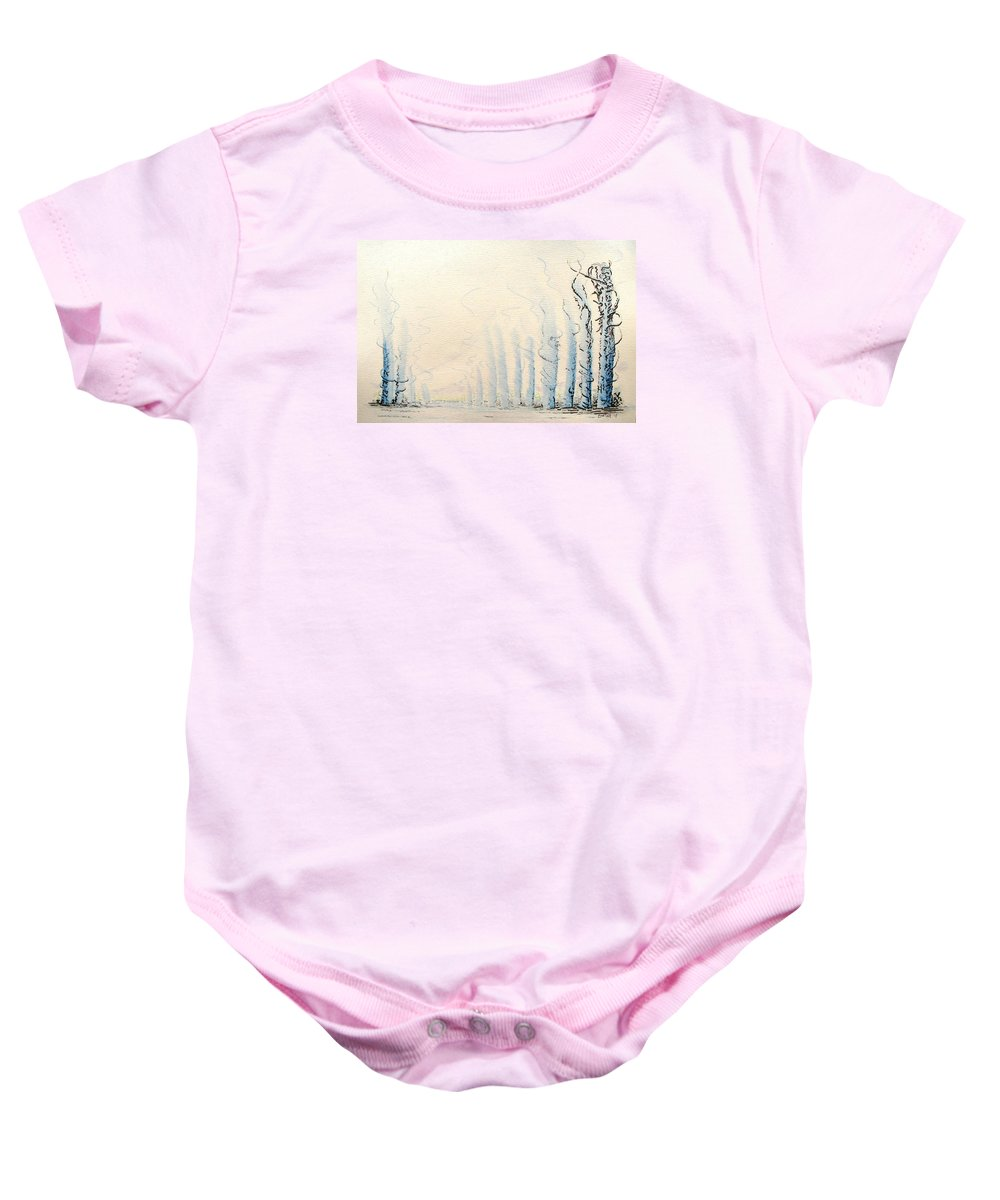 Watercolor Baby Onesie featuring the painting Signals by Dave Martsolf
