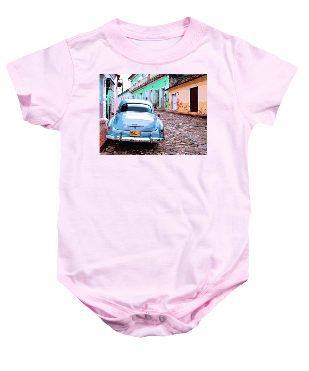 Silver Bullet Baby Onesie featuring the mixed media Silver Bullet by Dominic Piperata