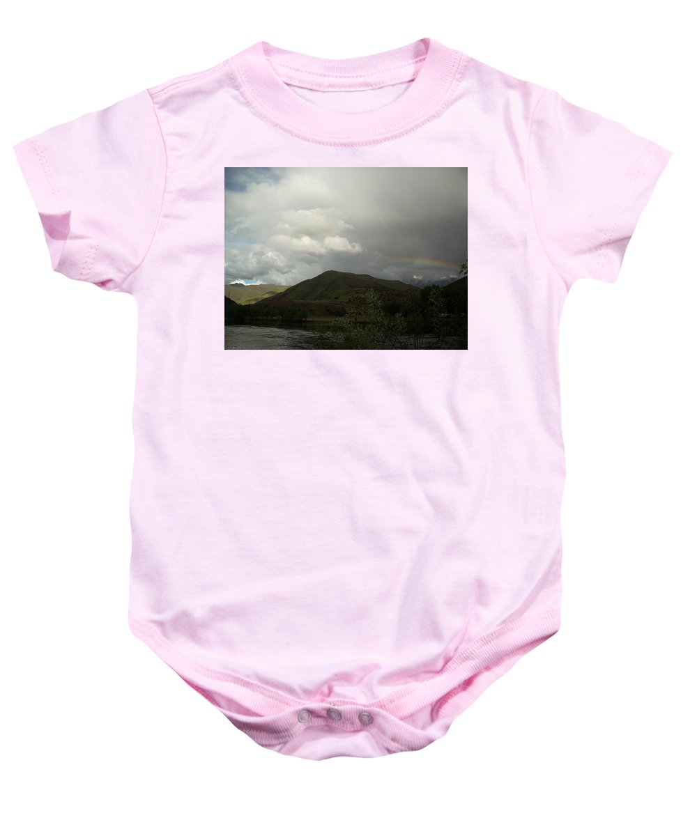Landscape Baby Onesie featuring the photograph Sky by Sara Stevenson