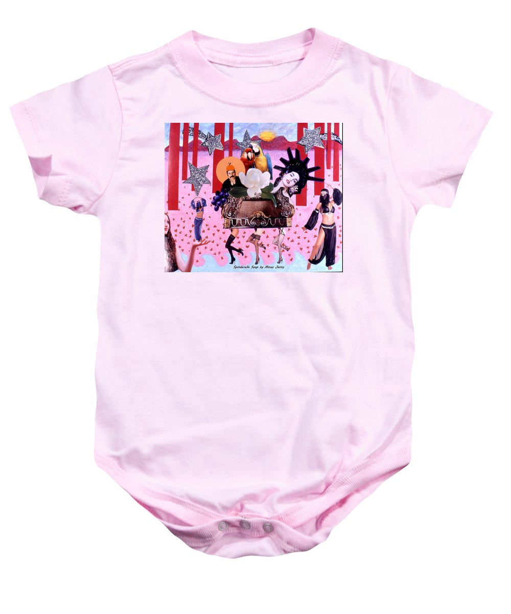 Collage Baby Onesie featuring the drawing Soap Scene # 28 You Have Seen That Movie Too by Minaz Jantz