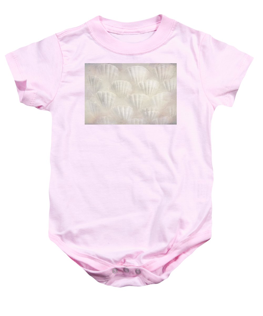 Bathroom Baby Onesie featuring the photograph Soft Shell by Heike Hultsch