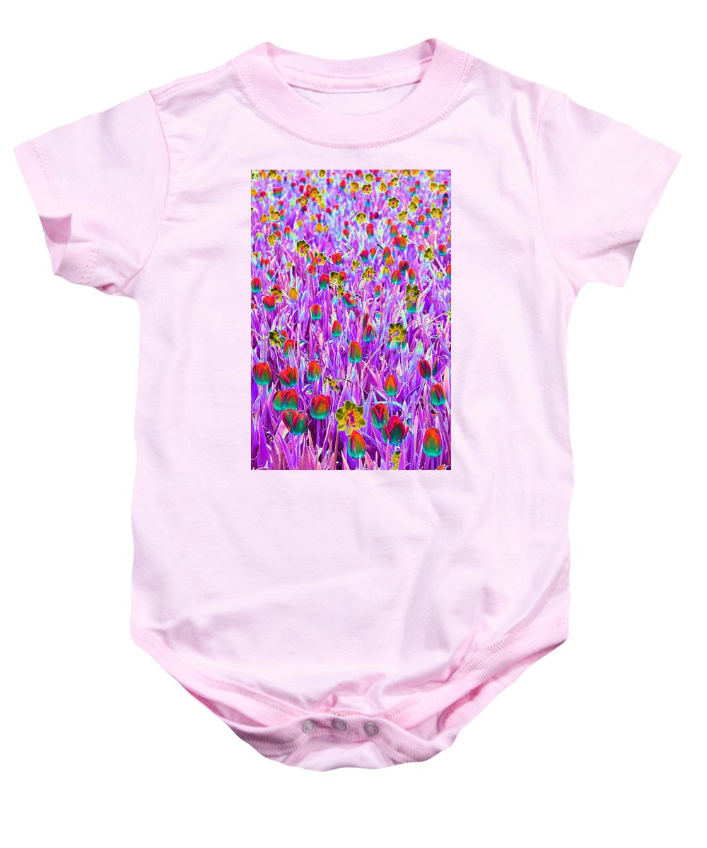 Tulip Baby Onesie featuring the photograph Spring Tulips - Photopower 3121 by Pamela Critchlow