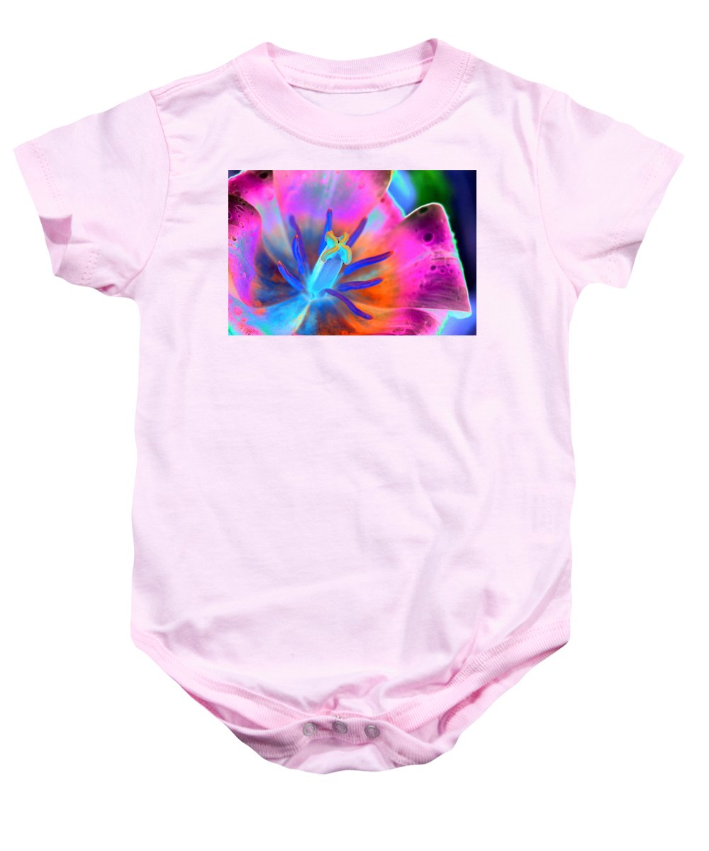 Tulip Baby Onesie featuring the photograph Spring Tulips - Photopower 3127 by Pamela Critchlow
