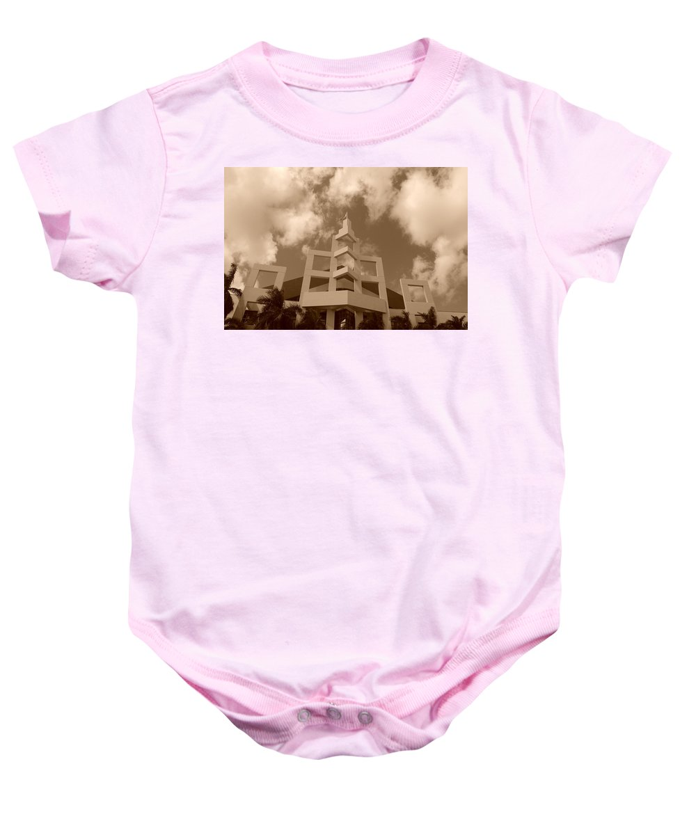 Architecture Baby Onesie featuring the photograph Squares In The Sky by Rob Hans