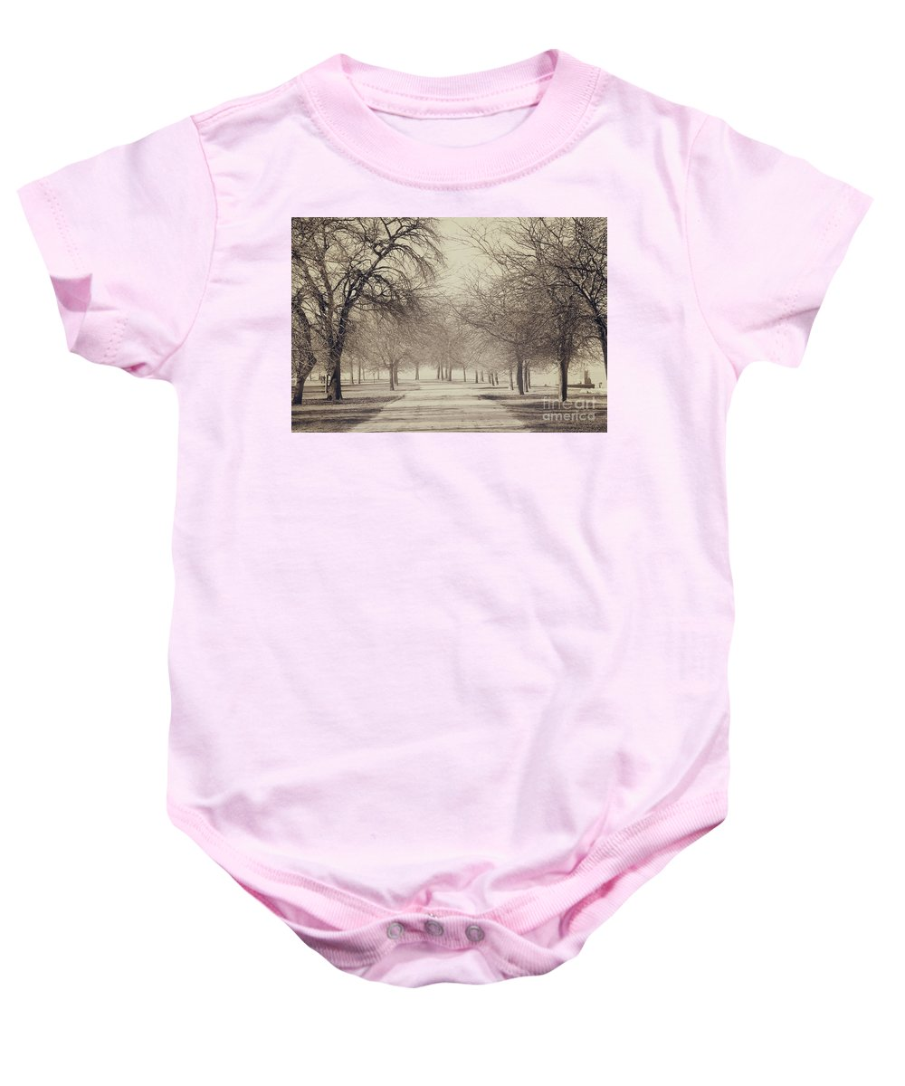 Trees Baby Onesie featuring the photograph Stand Where I Stood by Dana DiPasquale
