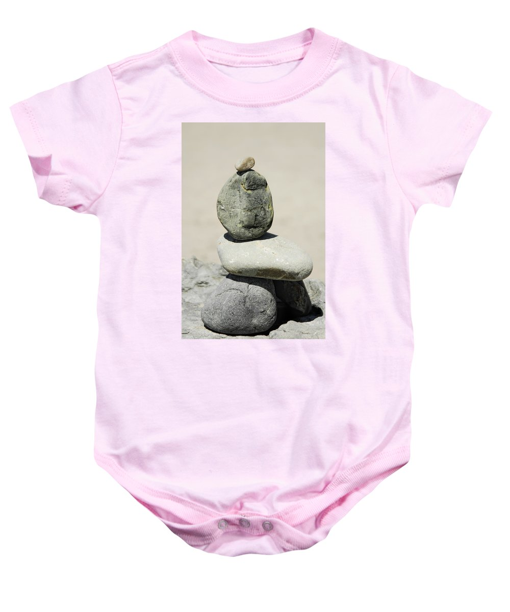 Rock Baby Onesie featuring the photograph Stoned by Donna Blackhall