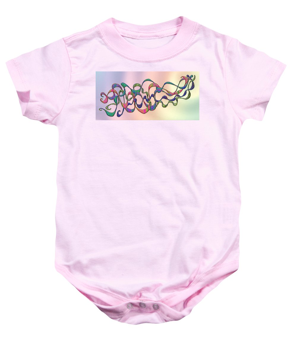 Colorful Baby Onesie featuring the digital art Strong Wind At Sunset by Mark Sellers