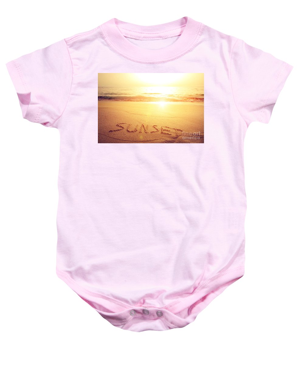Background Baby Onesie featuring the photograph Summer Background by Carlos Caetano
