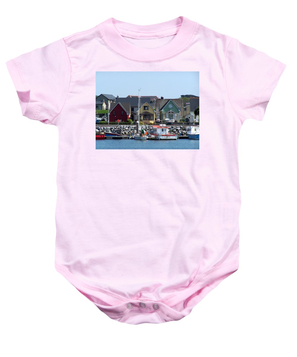 Irish Baby Onesie featuring the photograph Summer Cottages Dingle Ireland by Teresa Mucha