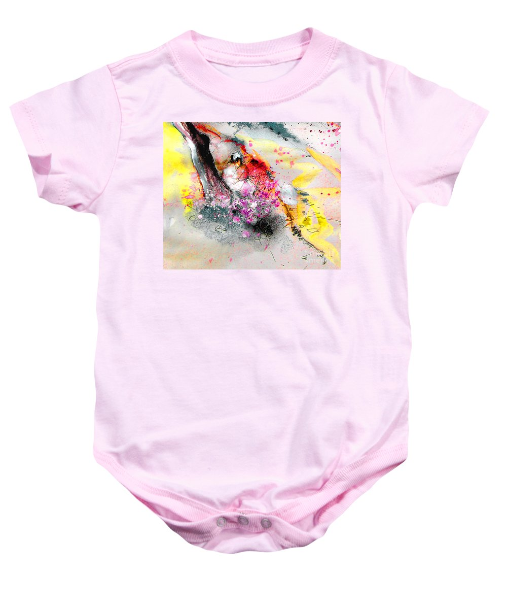 Pastel Painting Baby Onesie featuring the painting Sunday By The Tree by Miki De Goodaboom