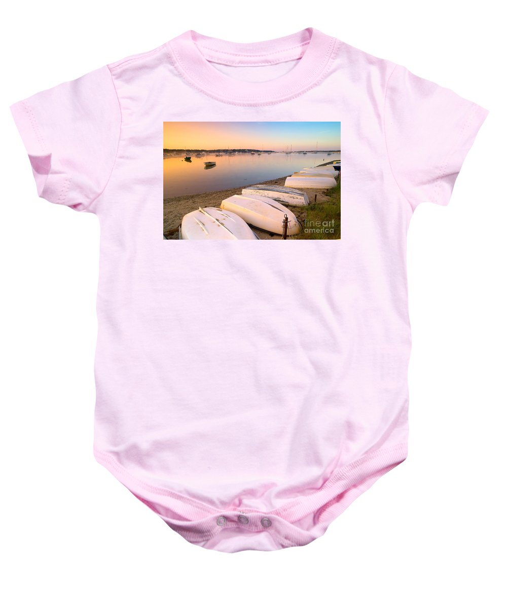 Sunrise Baby Onesie featuring the photograph Sunrise In Osterville Cape Cod Massachusetts by Matt Suess