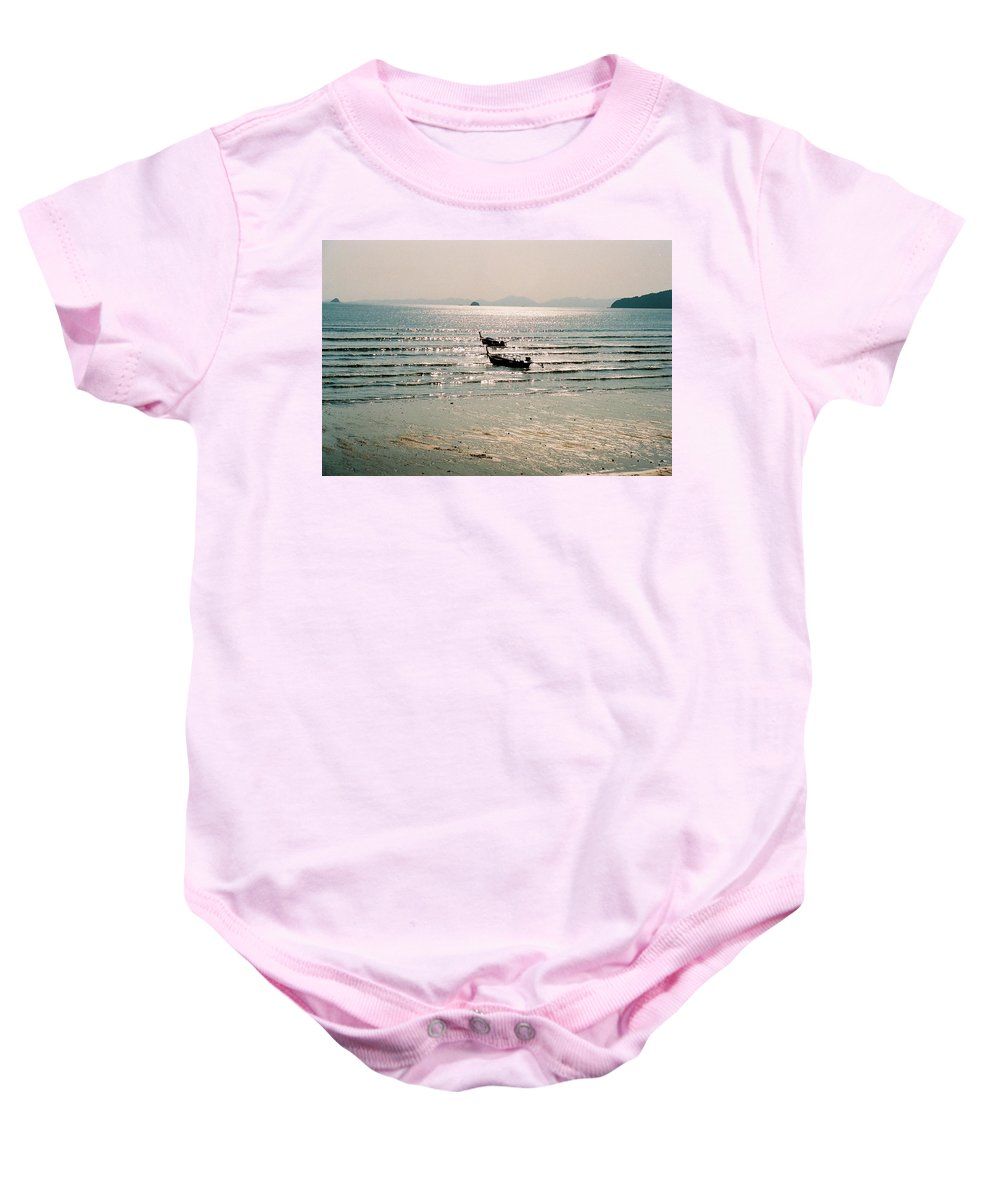 Sea Baby Onesie featuring the photograph Sunset At Krabi by Mary Rogers