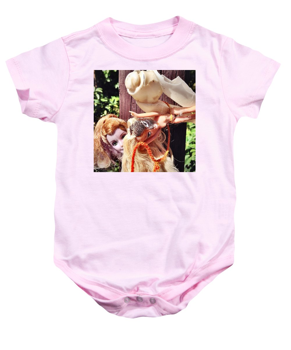 Photograph Baby Onesie featuring the photograph Suntan by Kelly King