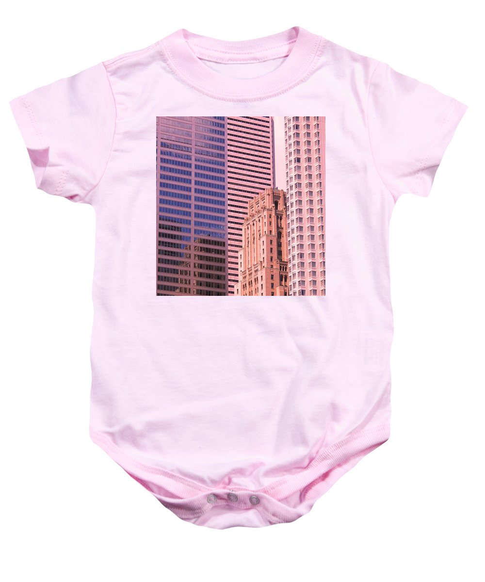 Office Buildings Baby Onesie featuring the photograph Surrounded by Ian MacDonald