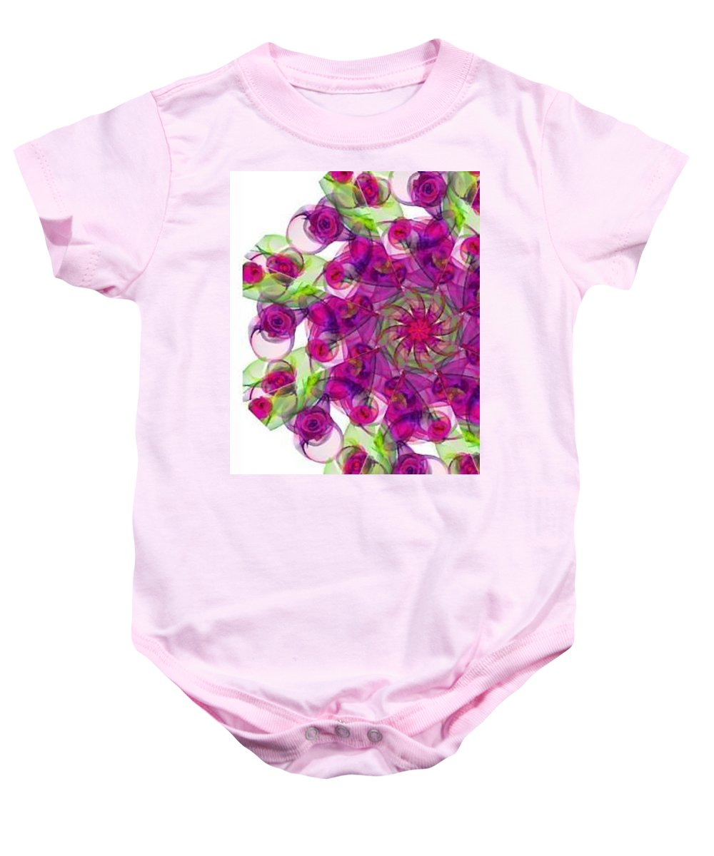 Sweet Violet Duvet Baby Onesie featuring the digital art Sweet Violet by Blue Doves