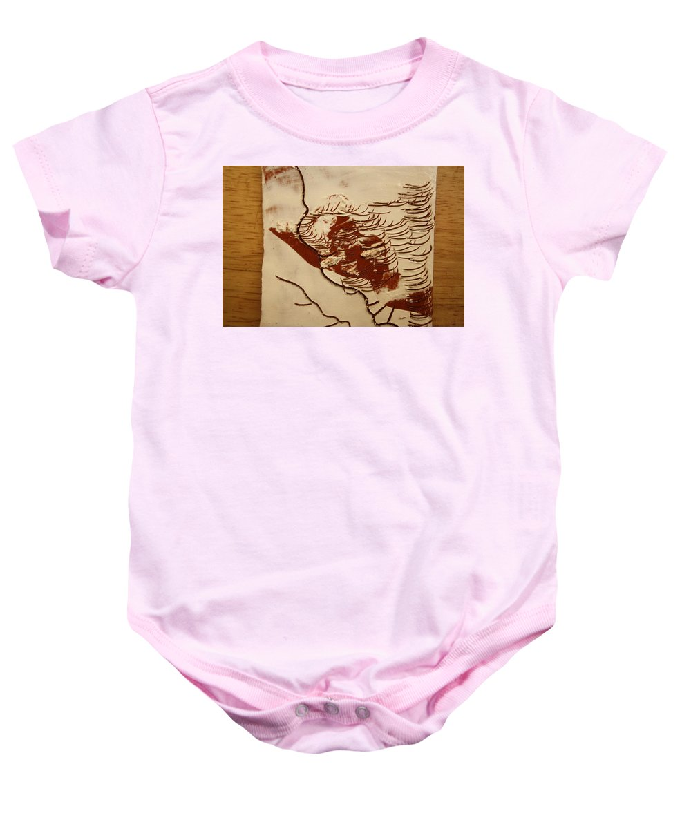 Jesus Baby Onesie featuring the ceramic art Sweethearts 4 - Tile by Gloria Ssali