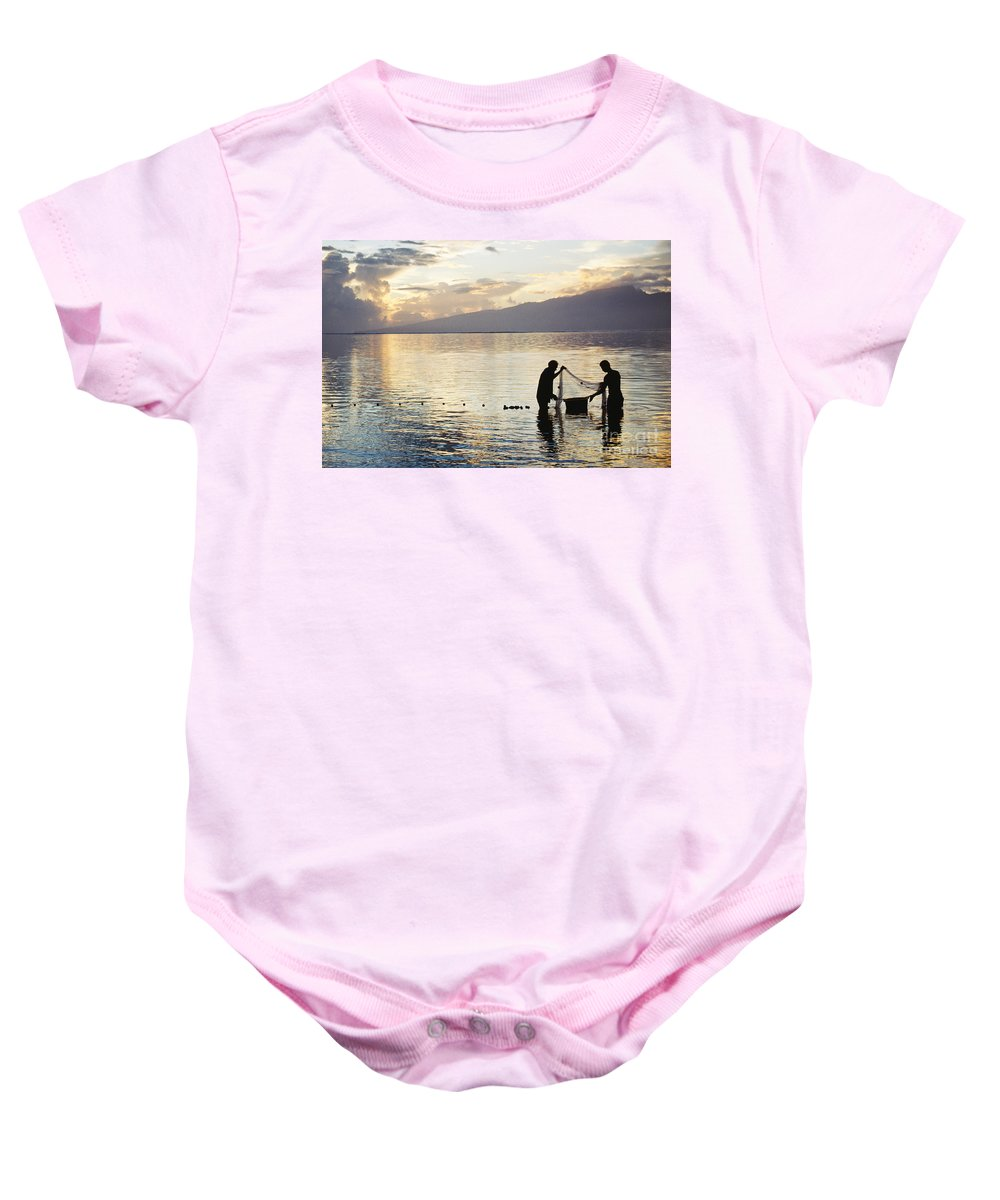 Beautiful Baby Onesie featuring the photograph Tahiti, Moorea by Mary Van de Ven - Printscapes