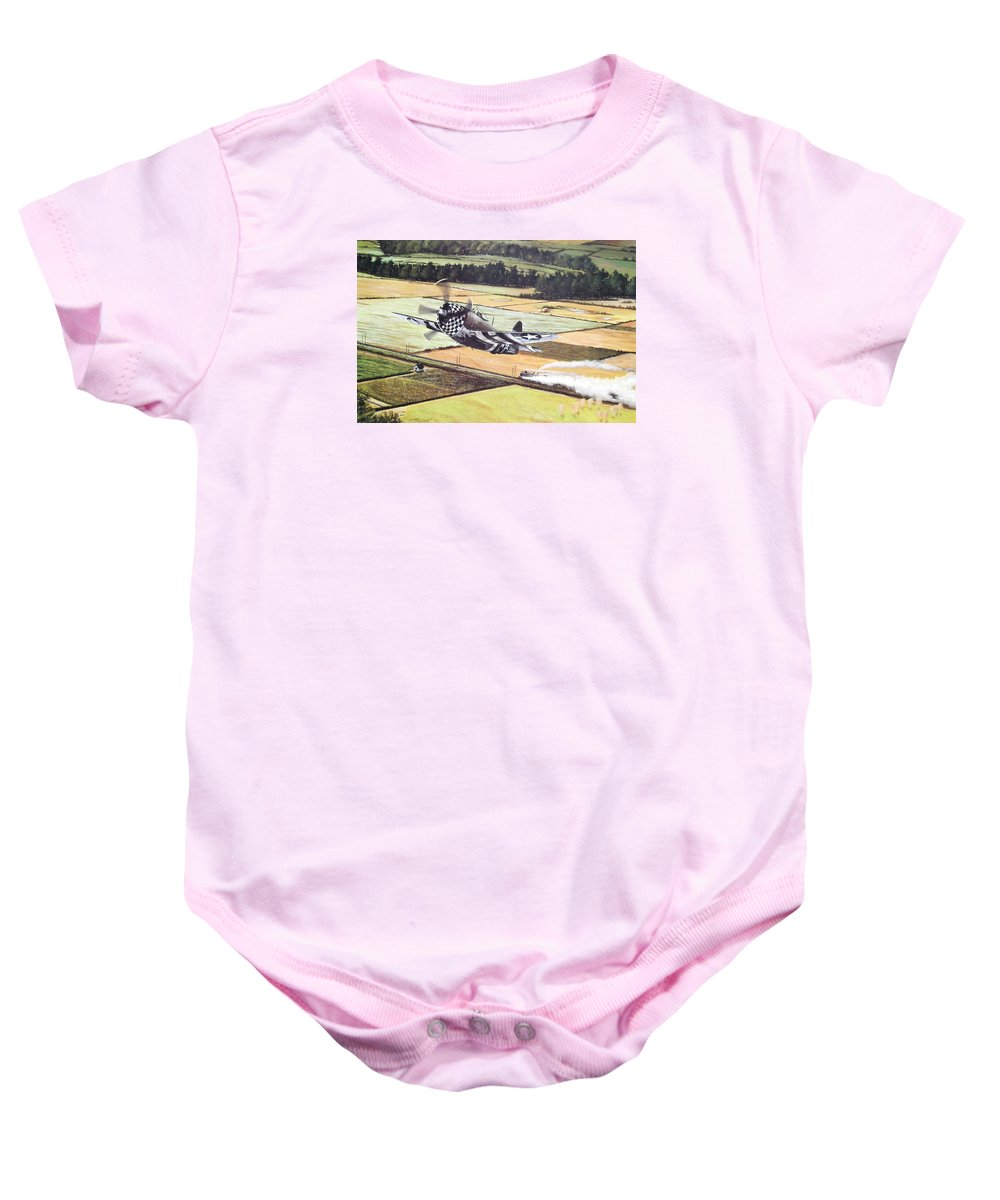 Military Baby Onesie featuring the painting Target Of Opportunity by Marc Stewart