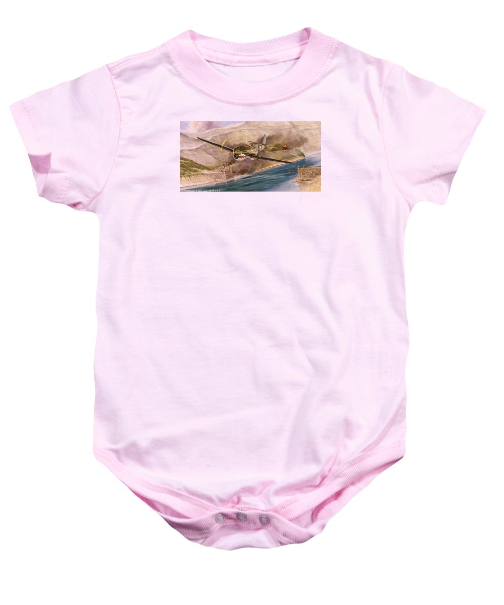 Painting Baby Onesie featuring the painting Tex Hill Over The Salween Gorge by Marc Stewart
