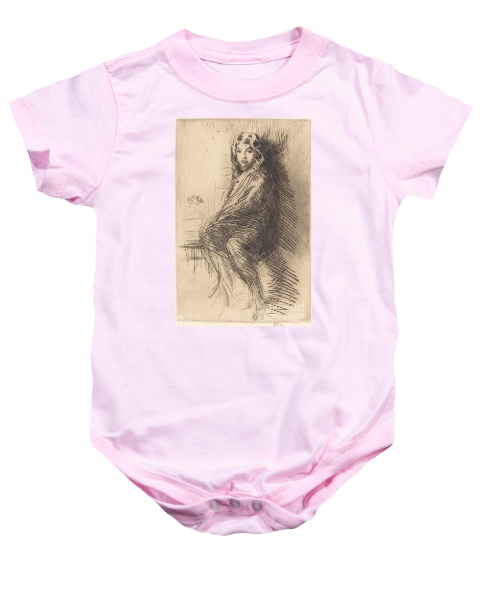 Baby Onesie featuring the drawing The Boy by James Mcneill Whistler