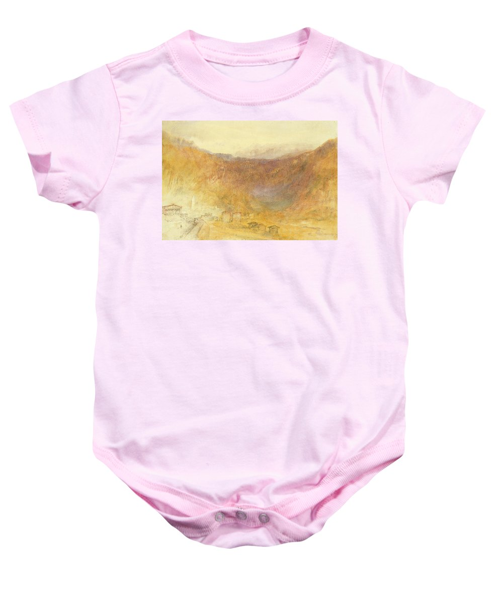The Baby Onesie featuring the painting The Brunig Pass From Meiringen by Joseph Mallord William Turner
