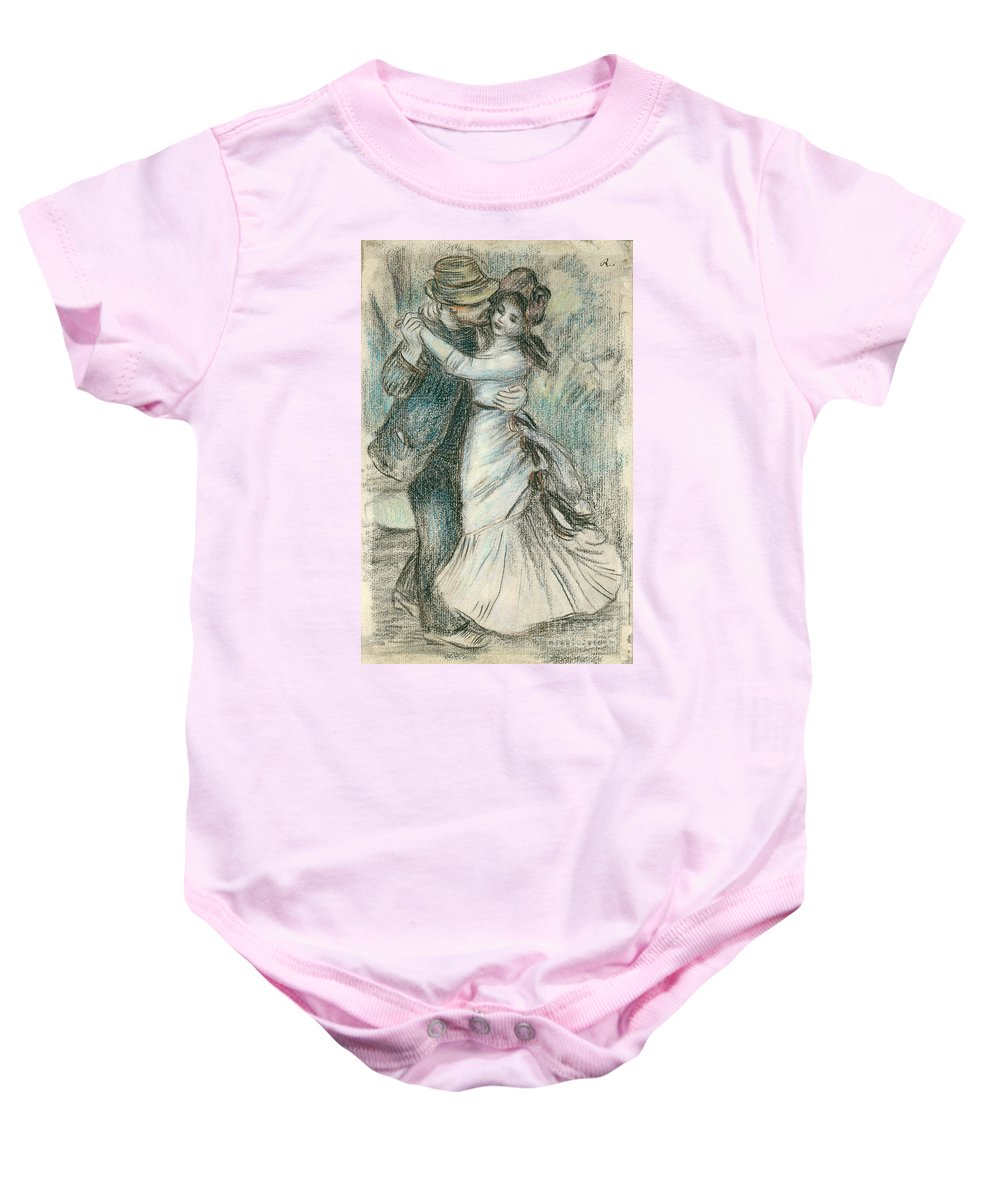 The Baby Onesie featuring the drawing The Dance by Pierre Auguste Renoir