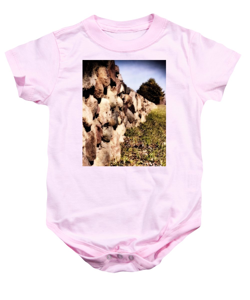 Stone Baby Onesie featuring the photograph The Secret Keeper by September Stone