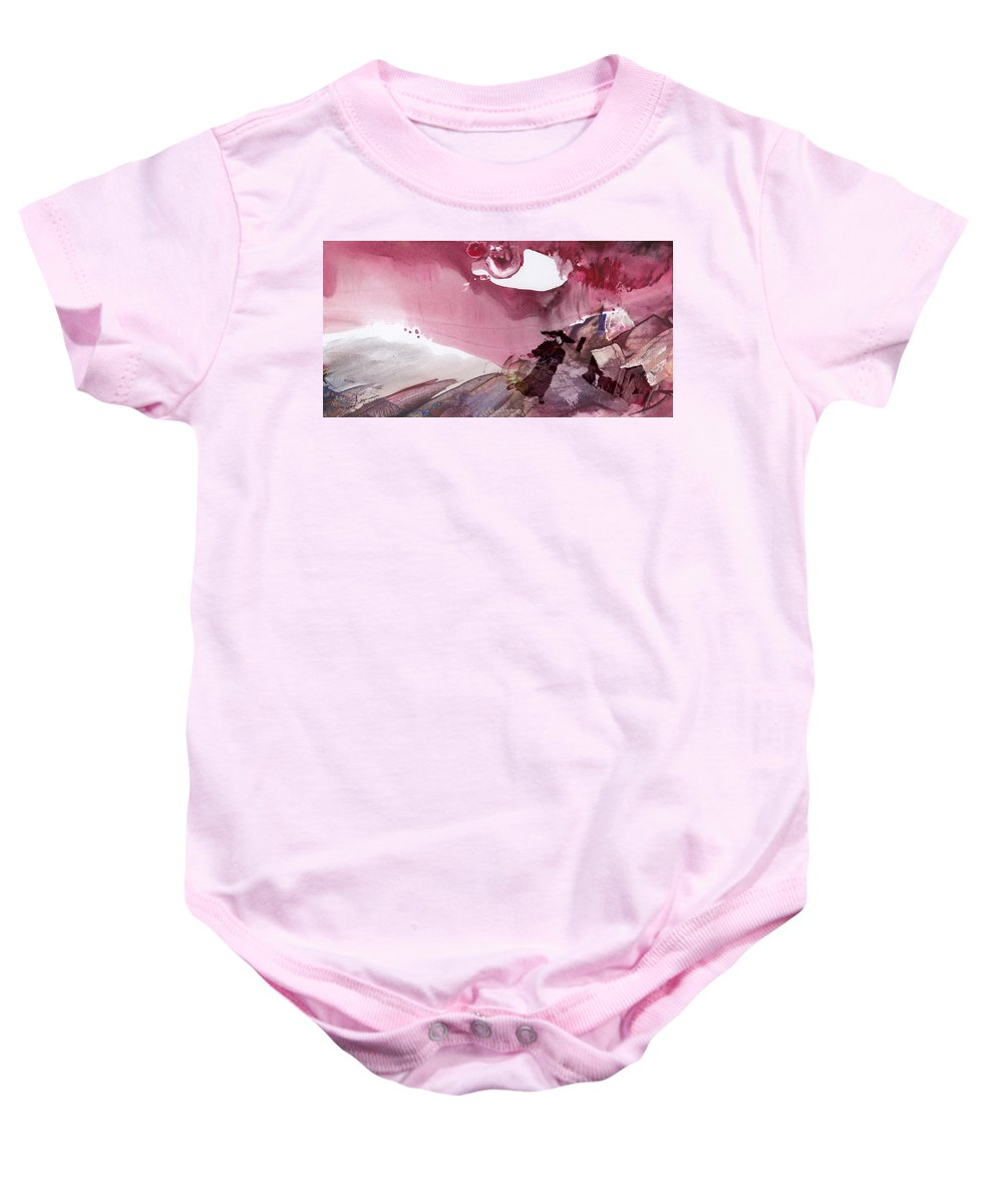 Fantasy. Japan Baby Onesie featuring the painting The Tears Of Mont Fuji by Miki De Goodaboom
