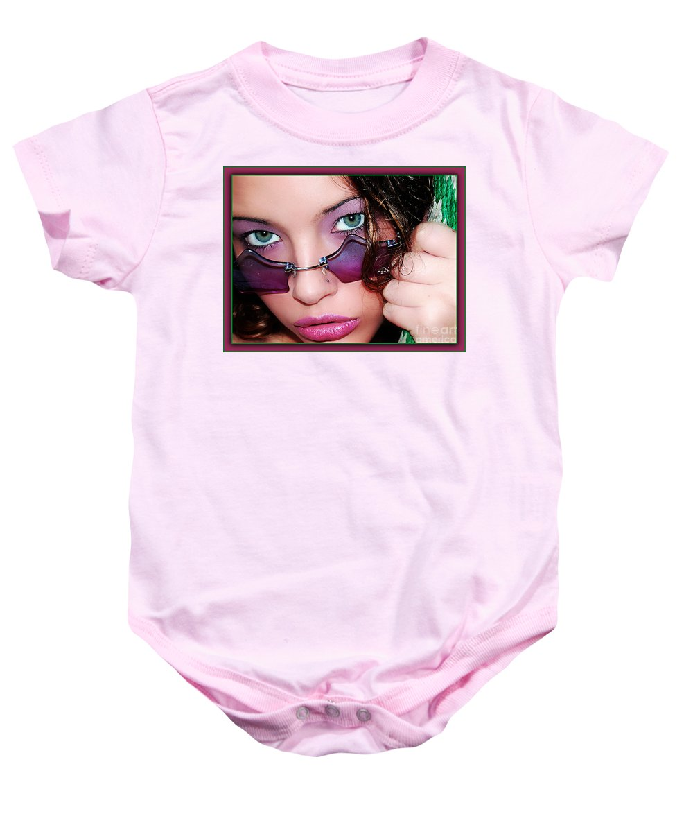 Clay Baby Onesie featuring the photograph The Watcher II by Clayton Bruster