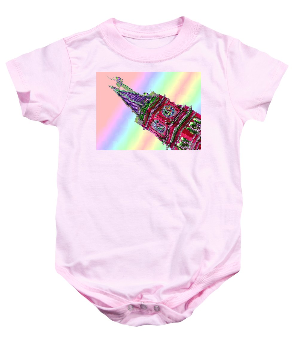 Seattle Baby Onesie featuring the photograph Time Cubed by Tim Allen
