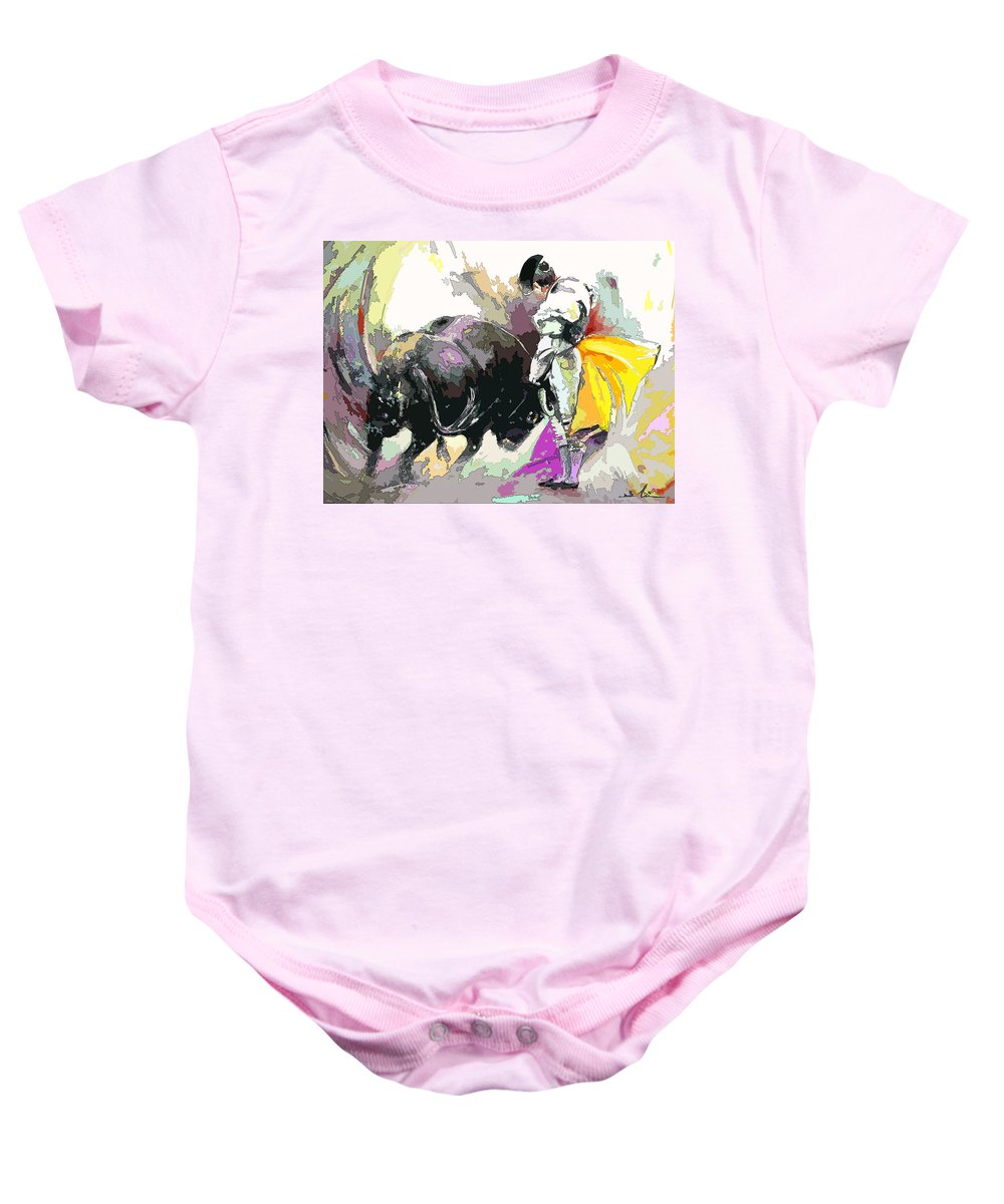 Animals Baby Onesie featuring the painting Toroscape 39 by Miki De Goodaboom
