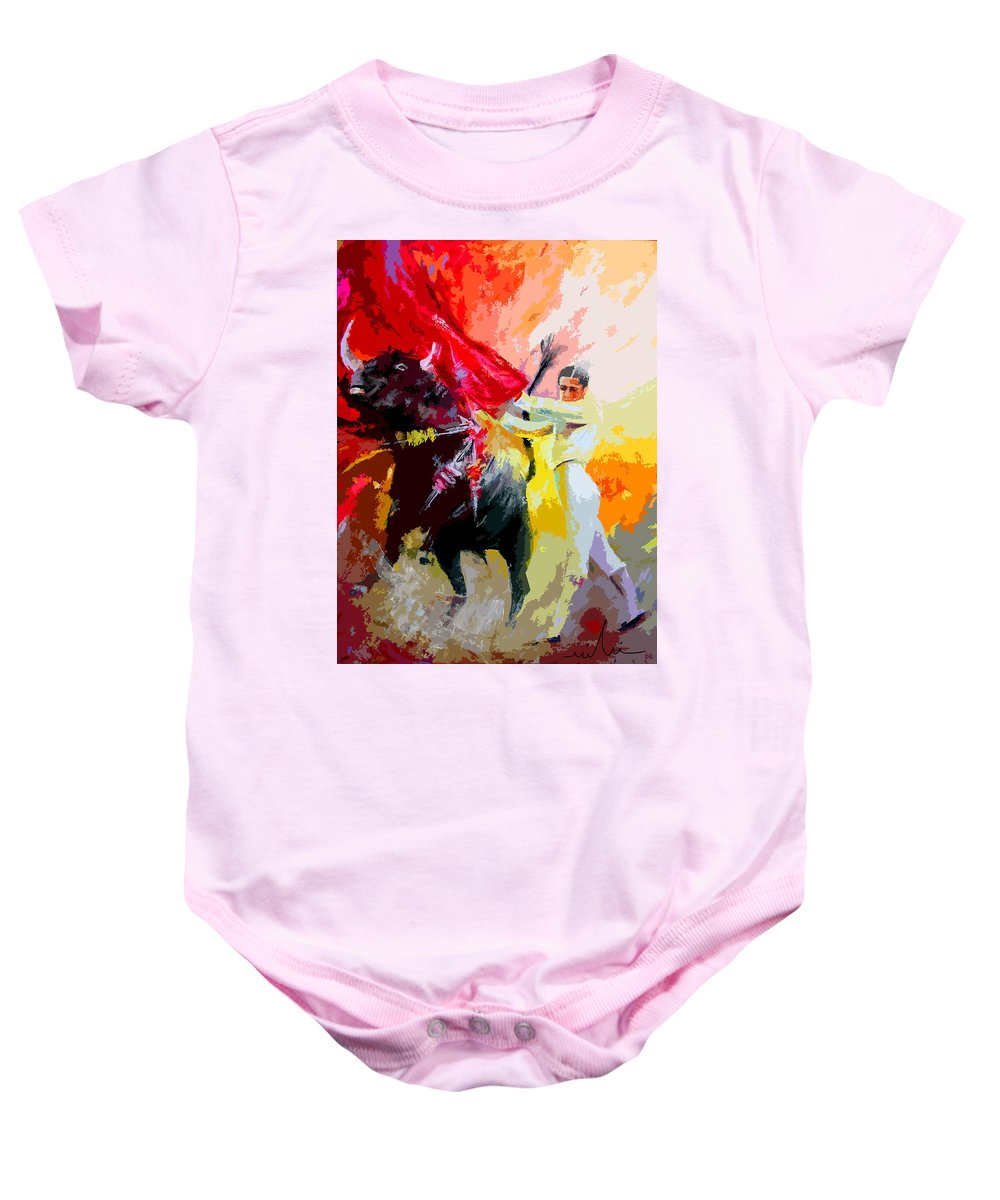 Animals Baby Onesie featuring the painting Toroscape 41 by Miki De Goodaboom