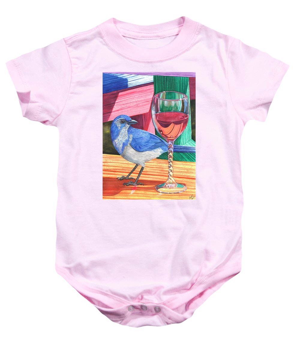 Wine Baby Onesie featuring the painting Unattended by Catherine G McElroy